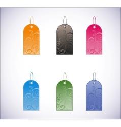 set of vertical labels vector image