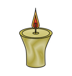 spa candle aromatherapy vector image