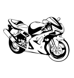 sport superbike motorcycle with helmet eps 10 vector image