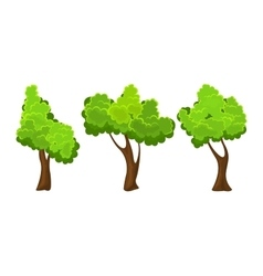 Summer tree set vector image