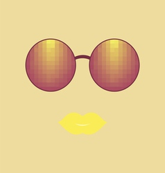 Sunglasses and lips vector