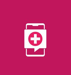 Telemedicine icon with smart phone vector
