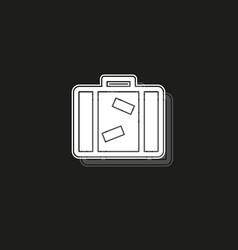 tourist bag - travel icon - luggage icon vector image