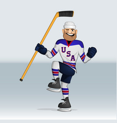 usa team ice hockey player vector image