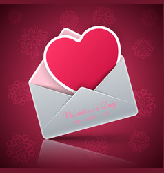 valentine s day heart in an envelope vector image