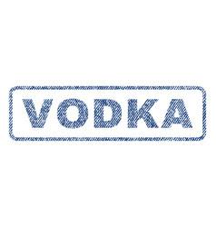 Vodka textile stamp vector