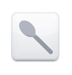 White teaspoon icon Eps10 Easy to edit vector