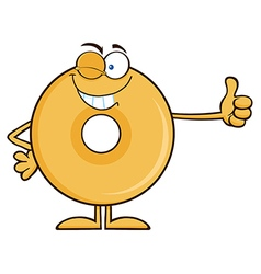 Winking Donut Cartoon vector