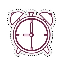 alarm watch isolated icon vector image vector image