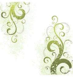 artistic floral motif vector image vector image