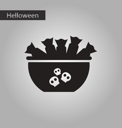black and white style icon halloween candy vector image