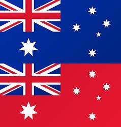 Flag of Australia Australian Red Ensign vector image