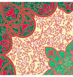 floral arabesque background vector image vector image