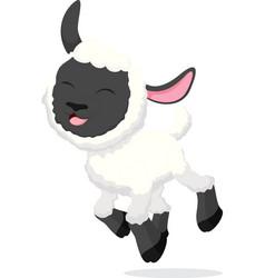 happy sheep cartoon vector image