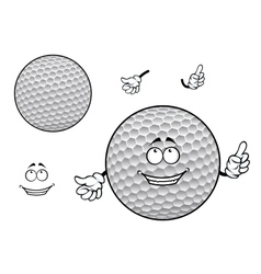 Smiling cartoon dimpled white golf ball character vector image vector image
