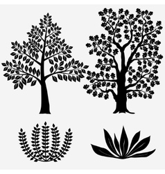 Trees and Bushes - vector image