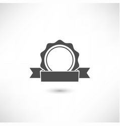 badge flat vector image