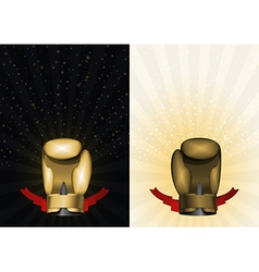 boxing gloves Set template for Championship Awards vector image