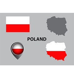 Map of Poland and symbol vector image vector image