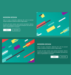 modern design web pages on vector image