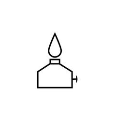 oil burner simple icon vector image