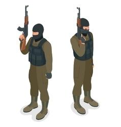 Spec ops police officers SWAT in black uniform vector image