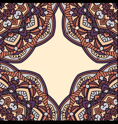 vintage cards with seamless pattern vector image