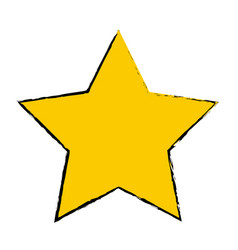 yellow star award winner favorite icon vector image