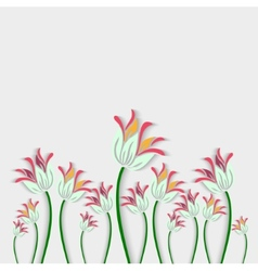 Bouquet of fantastic white flowers made in 3d vector image vector image