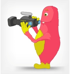 Funny Monster Cameraman vector image vector image