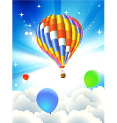 Hot air ballooning vector