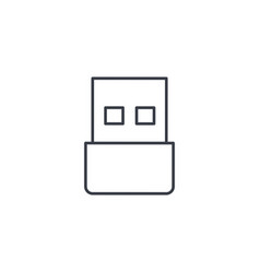 usb flash drive thin line icon linear vector image vector image
