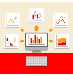 Business ratings and charts collection infographic vector