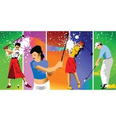 club golf champions vector image vector image