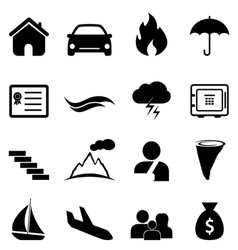 Insurance and accident icon set vector image vector image