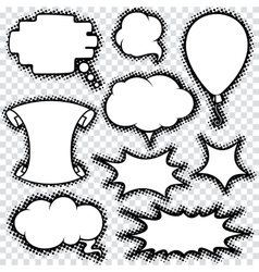 Speech Bubble Set Comics Retro Design vector image