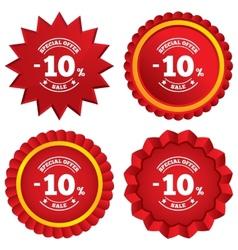 10 percent discount sign icon Sale symbol vector image
