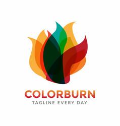 Abstract fire logo design vector