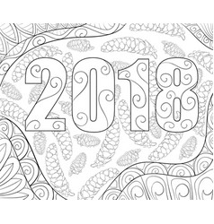 Adult coloring bookpage a christmas background vector