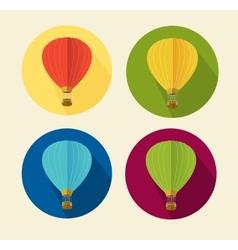 Air ballon icon set flat vector