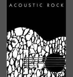 An acoustic rock music background vector