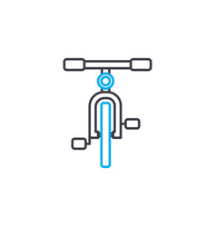 bicycle thin line stroke icon bicycle vector image