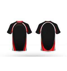 black white and red layout e-sport t-shirt design vector image