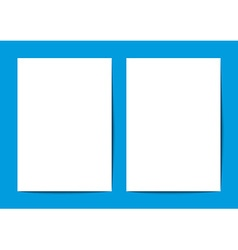 blank white a4 on blue background vector image