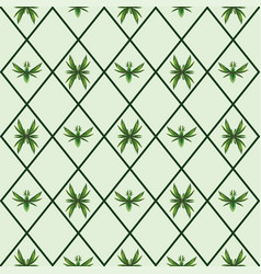 bugs and birds made leaves pattern vector image