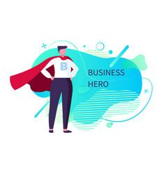 Business hero man saving works person vector
