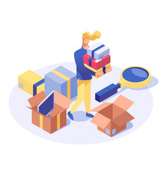 Buyer purchasing products isometric vector