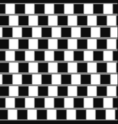 Cafe wall geometric optical vector