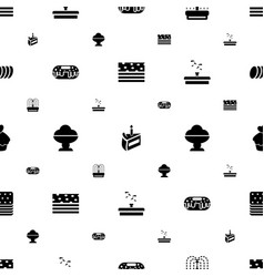 Chocolate icons pattern seamless white background vector