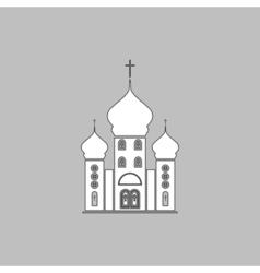 Church computer symbol vector image